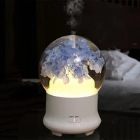 Diffuseur dhuile essentielle et darome de fleur eternelle  humidificateur dair pour la maison  veilleuse coloree  aromatherapie  100ml