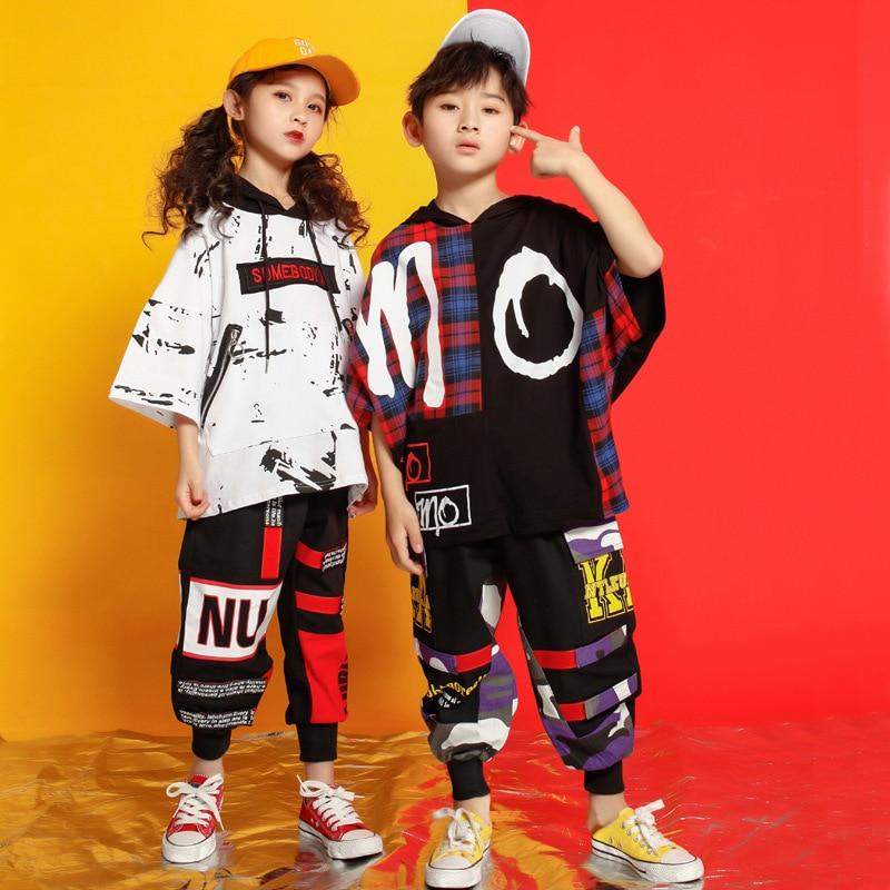 Pantalones cortos sueltos para niñas y niños, prenda de hip hop, ropa, trajes de baile para niños, ropa de calle para baile de salón