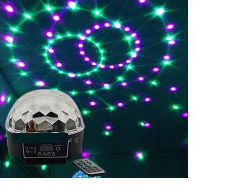 RA-T-04... DMX512 colorido LED bola mágica de cristal de luz con control remoto controlador de sonido controlado KTV bar