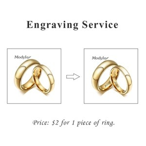 Zorcvens Engraving fee for stainless steel rings, $2 for 1 piece of ring, customized rings, great gift