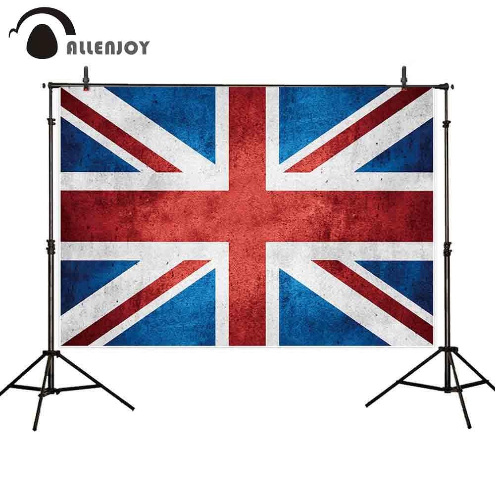 Allenjoy фотография Фон Британский баннер флаг винтажная текстура фестиваль Вечеринка фотоальбомы фотосессия фотографические фоны