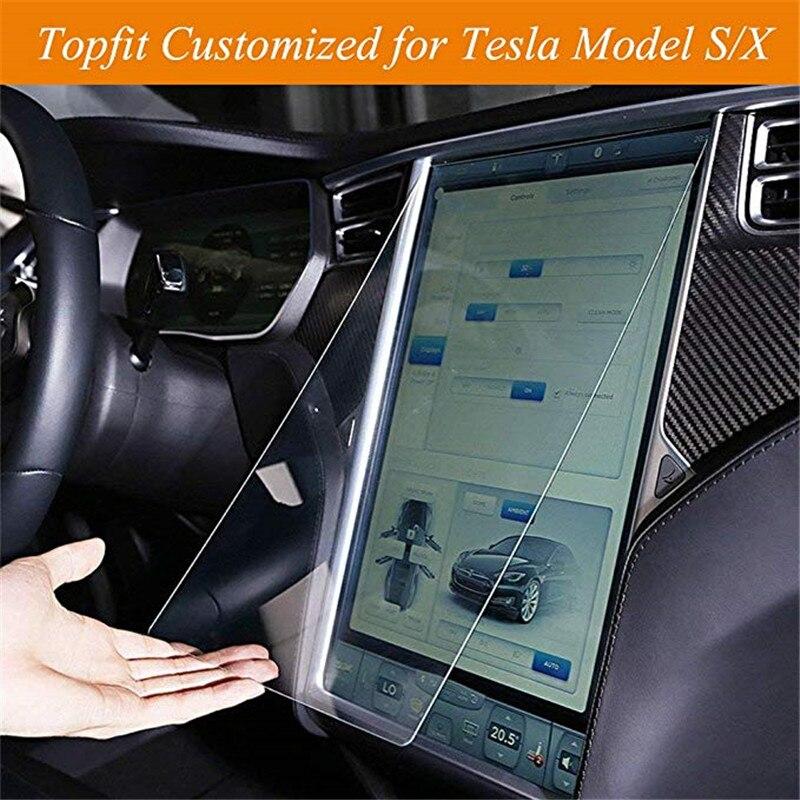 Para o Centro de Tesla Model X Modelo S Protetor de Tela de Toque de Navegação Do Carro Tela Sensível Ao Toque de Controle 17 Polegada Películas Protetoras