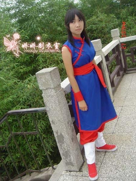 Dragon Ball Z Chi Chi Cheongsam Anime Cosplay Costume dress+pant+sleeves