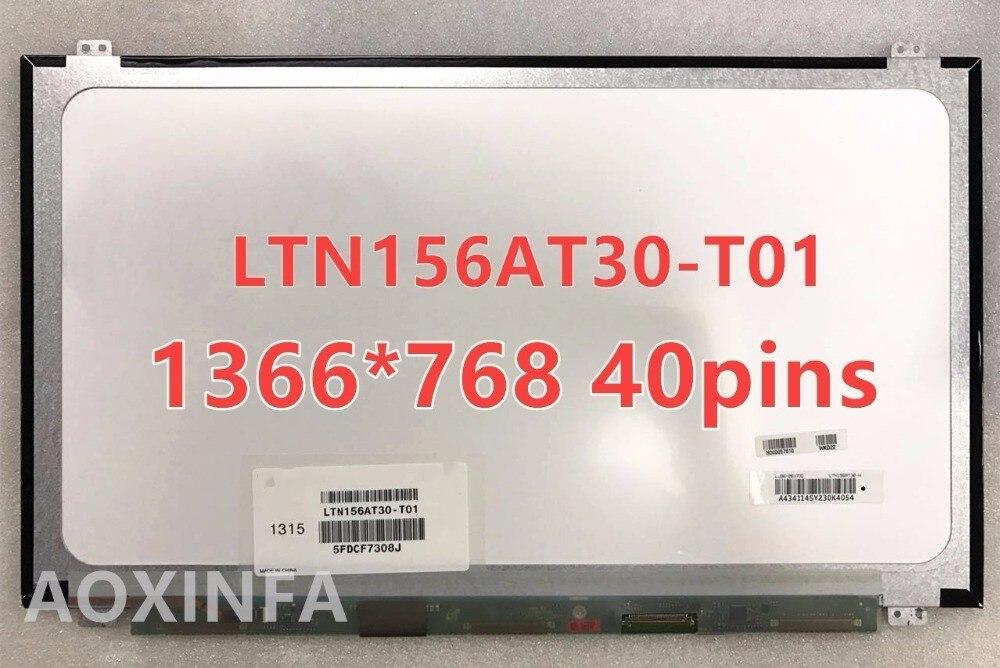 Envío Gratis B156XW04 V.5 B156XW04 V.6 LP156WHB TLA1 LP156WH3 TLS1 N156BGE-L31 N156BGE-L41 LTN156AT20 LTN156AT30 40PIN LCD SCR
