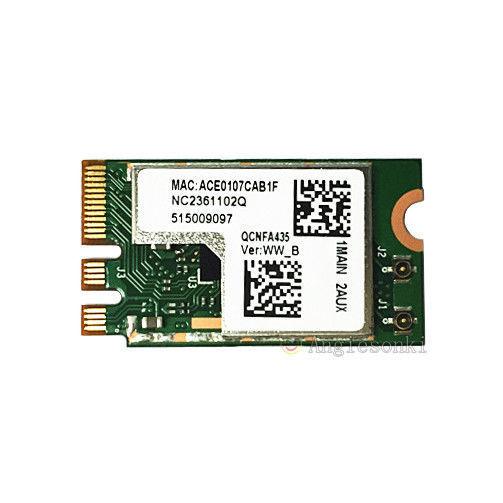 Двухдиапазонная Беспроводная Bluetooth 4,1 карта Qualcomm Atheros QCNFA435, 802,11 AC NGFF/M.2 433 Мбит/с для WIN7 WIN8 WIN10