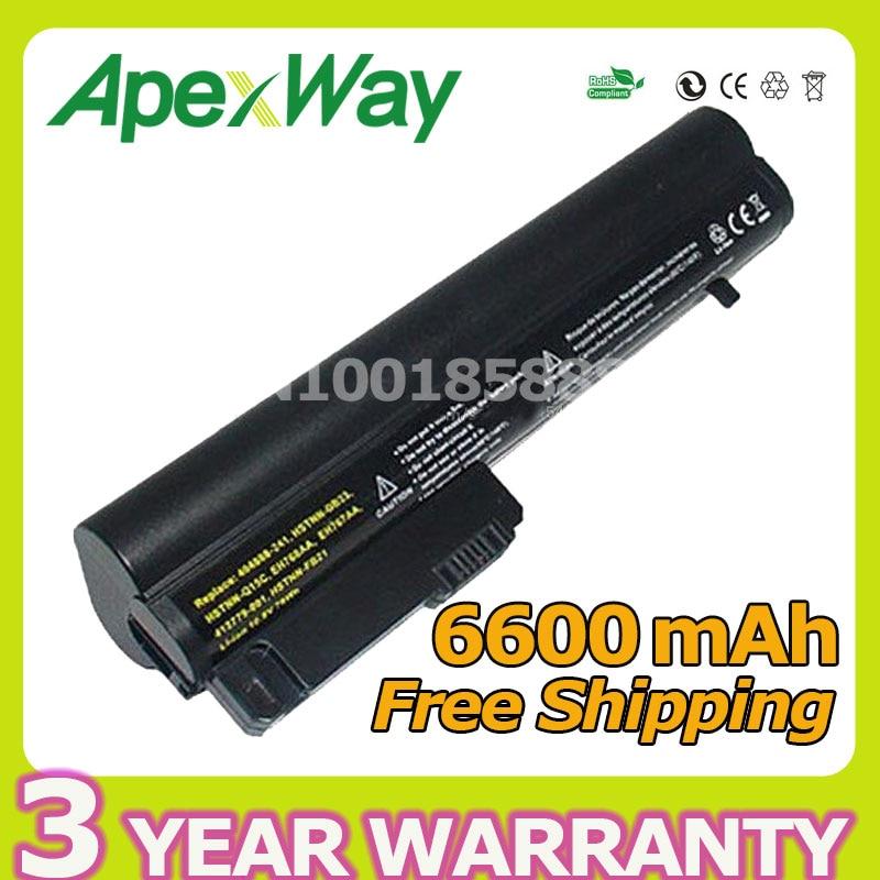 Apexway 6600mAh 9 célula de la batería para computadora portátil de negocios HP 2400 2510p NC2400 412779-001 2530p 2540p EH768AA HSTNN-FB21
