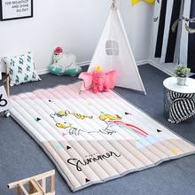 12 types 145*195cm INS cartoon cotton floor mat Scandinavian simple mural pad children climbing game carpet home textile