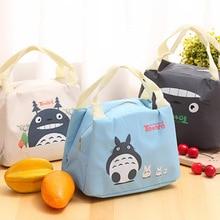 New Portable Thermal Insulation Bag Baby Feeding Milk Bottle Totoro Cartoon Mummy Travel Breast Milk Kettle Warmer Food Tote