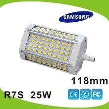 118mm LED R7S lumière 25 W Samsung SMD5630 2600LM J118 R7S lampe 25 w remplacer 250 W lampe halogène