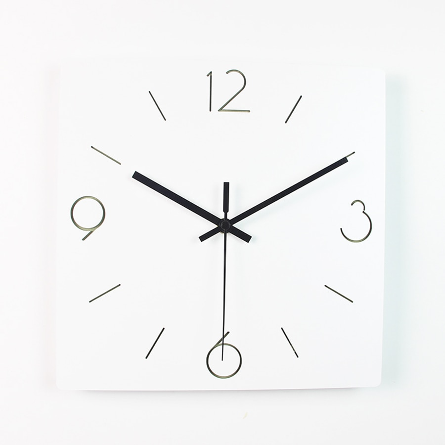 Wooden Large Modern Wall Watch Quartz Wood Silent Nordic Wall Clock Modern Design Saat Oclock Reloj Pared Wallclock Klok Z006