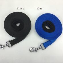Laisse pour animaux de compagnie en Nylon   Bleu noir, 20 mètres, 10 mètres, laisse pour chien de marche, laisse de taille sélectionnable, sécurité dextérieur