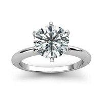 925 серебро кольцо 1ct 2ct 3ct Классический стиль ювелирные изделия с бриллиантами Муассанит кольцо Свадебная вечеринка юбилей кольцо для женщин