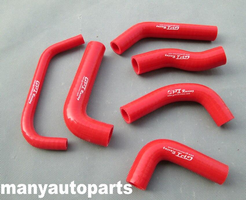 for Honda XR650R XR650 00-09 02 03 04 05 06 07 08 09 silicone RADIATOR HOSE KIT RED