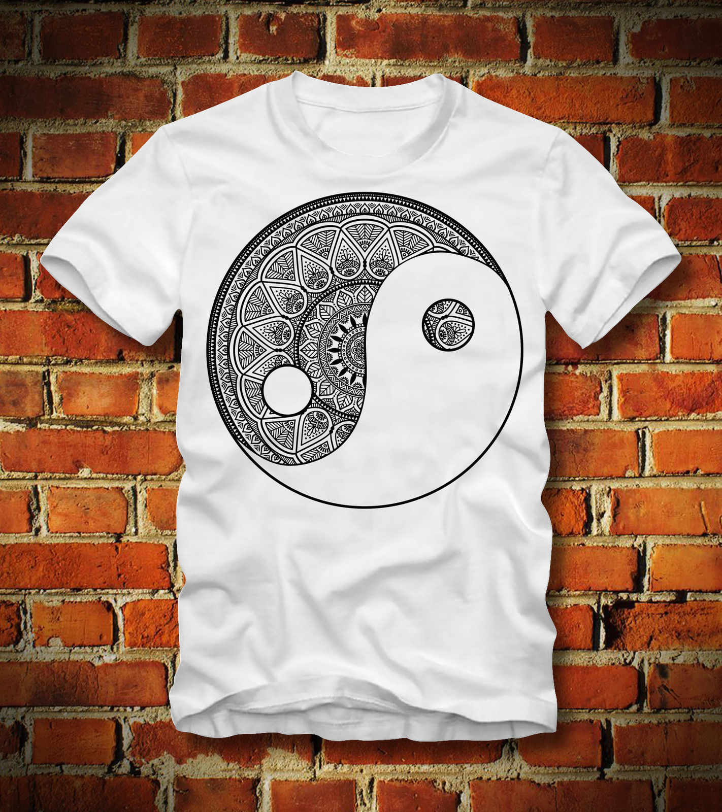 2019 nueva camiseta de verano divertida camiseta YIN y YANG MANDALA ZEN budismo ANTI estrés FENG SHUI QI camiseta personalizada