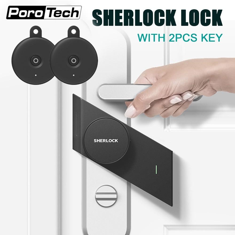 S2 sherlock schloss mit 2 einheit Bluetooth schlüssel in Lager, keyless lock, smart türschloss Bluetooth Drahtlose telefon App Control