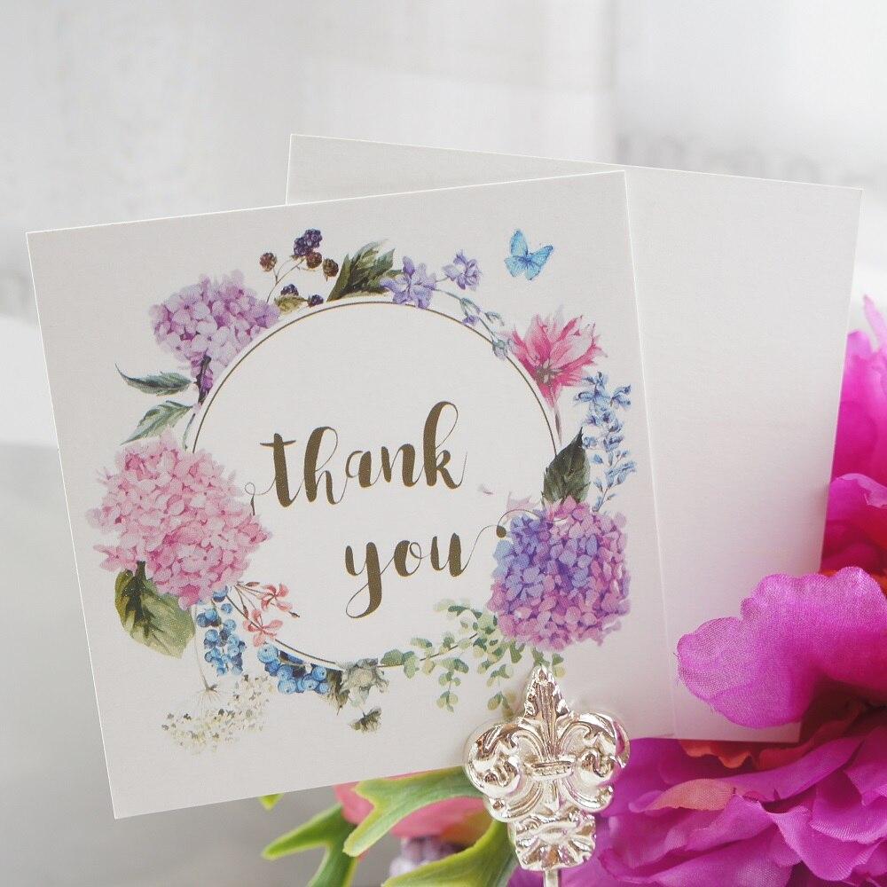 Mini cartes de merci hydrange multi-usage   Guirlande de cartes de message, style violet, saint valentin, Scrapbooking, noël