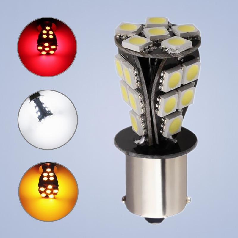 1 Uds 1156 21 SMD BAU15S bombillas led para coche canbus No Error py21w lámparas para luces exteriores fuente de luz para coche 12V rojo blanco amarillo 12V