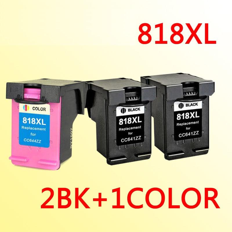 3pcs ink cartridge compatible for818 compatible for 818 818xl DeskjetF2418/F2488/D1668/D2568/D2668/D5568
