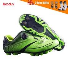 Boodun 2020Men Ultralight Pro Zelfsluitende Fietsschoenen Mountainbike Mtb Schoenen Reflecterende Fiets Triathlon Racing Schoenen