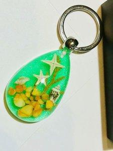 24 pcs charming two starfish magic color 4.5 CM size keychain