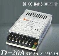 5v2a 12v1a ultra mince double sortie alimentation pour led light strip smps 85 v 264 v ac entree 5 v 12 v sortied 20a