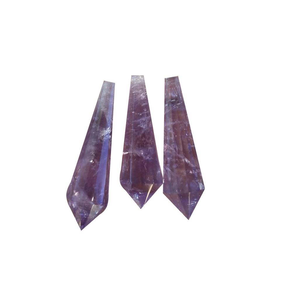 Natural de cristal de stone12 lados colgante cristales de cuarzo con palo...
