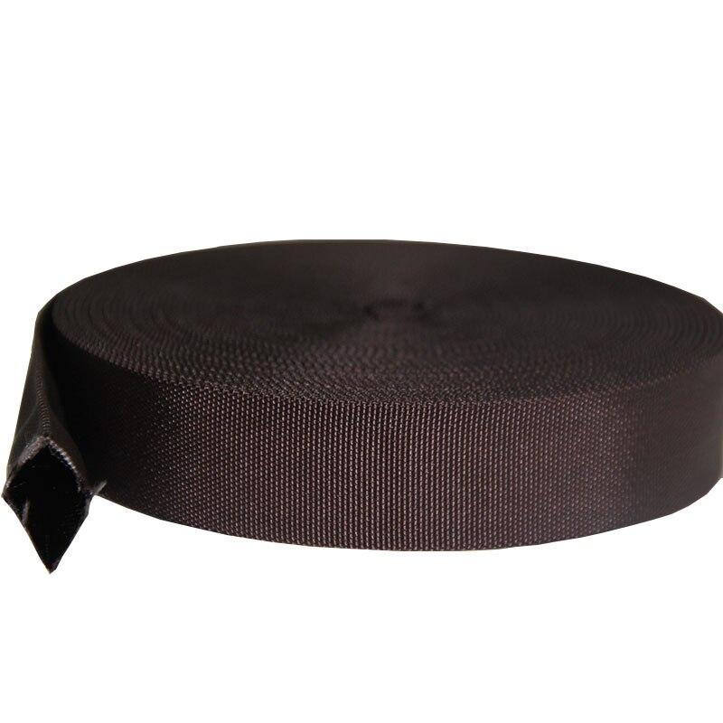 Nueva llegada liman cinta fábrica de nailon correa para correa de bolsa 32mm cinta de nylon 1,2 pulgadas color marrón tubo correas