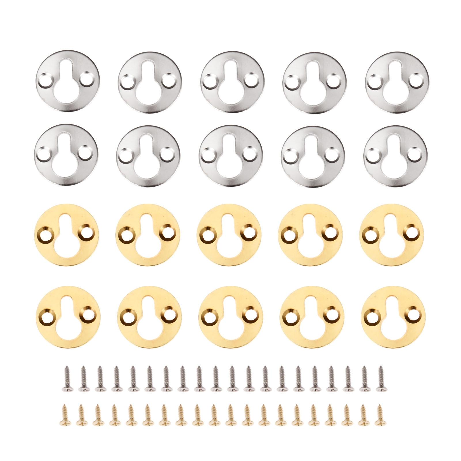 DRELD 10Pcs Runde Hängen Bild Ölgemälde Spiegel Rahmen Haken Kleiderbügel Mit Schrauben Gold/SilverFurniture Hardware 25mm