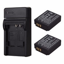 2 uds. CGA-S007 batería de repuesto recargable de 1300mAh con cargador de pared para Panasonic DMC TZ2 TZ3 TZ4 TZ5 TZ50