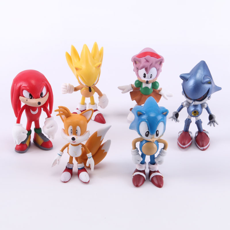 6 teile/los Sonic the Hedgehog PVC Action Figure Sammlung Modell Spielzeug