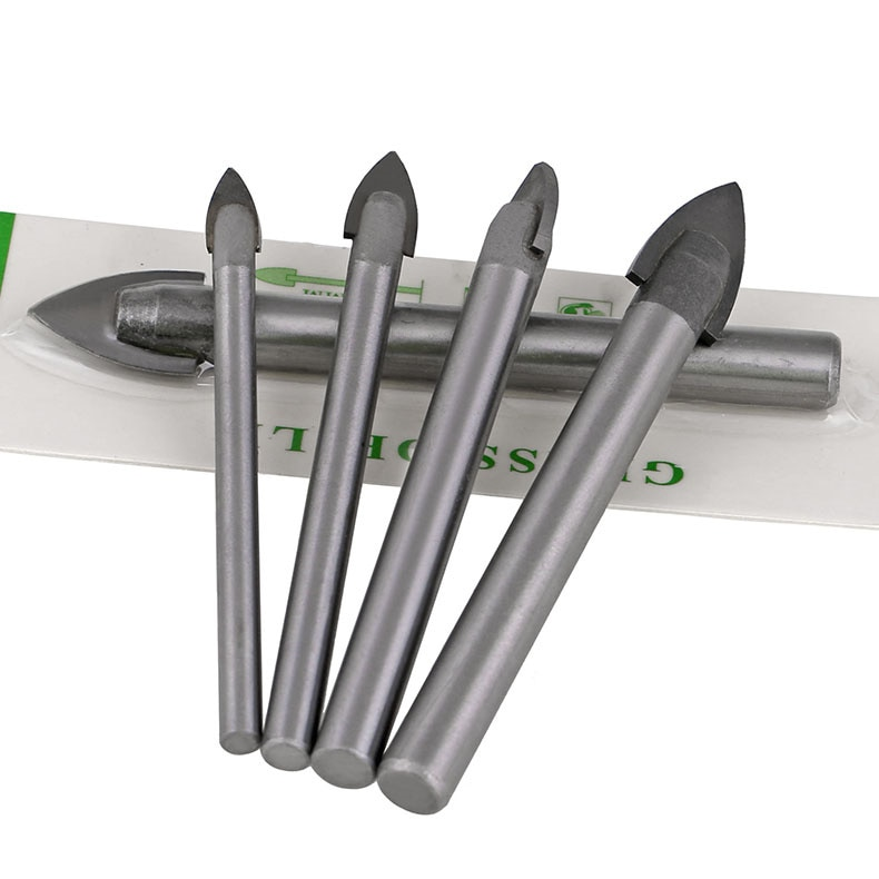 10mm 12mm 14mm 16mm Chrome Steel Carbide Spear Head Glass Mirror Marble Tile Porcelain Creamic Power Tool Flat Spade Drill Bit