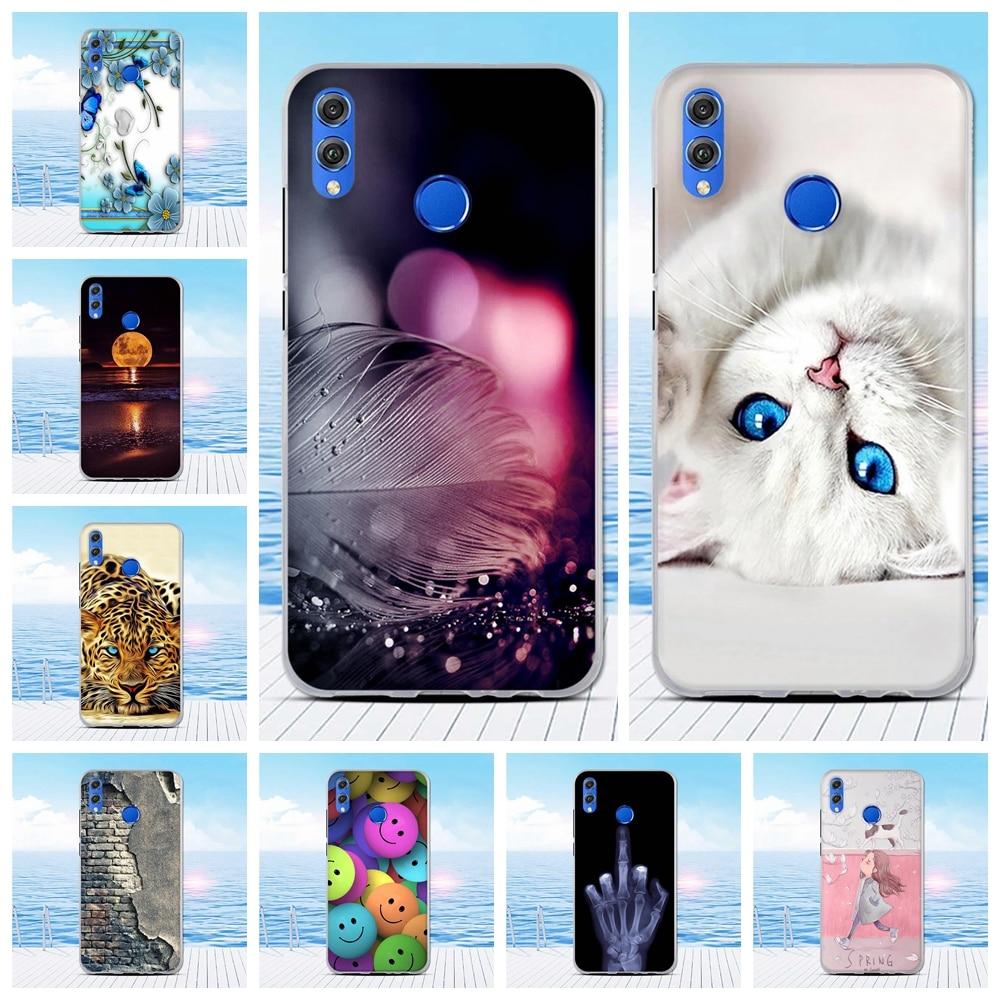 Para Huawei Honor 8X fina funda de silicona para Honor View 10 Lite Coque funda trasera protectora de teléfono bolsa de funda TPU funda para Honor V10 Lite