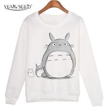 Décontracté 3D Sweat Femmes Hiver Vêtements Dessin Animé Totoro Imprimer Moleton Feminino Capuche O-cou hauts pullover WMH31