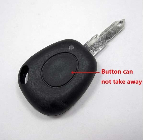 1 botón de repuesto funda de llave remota para Renault Clio con abrazadera de batería funda de llave Fob 10 unids/lote