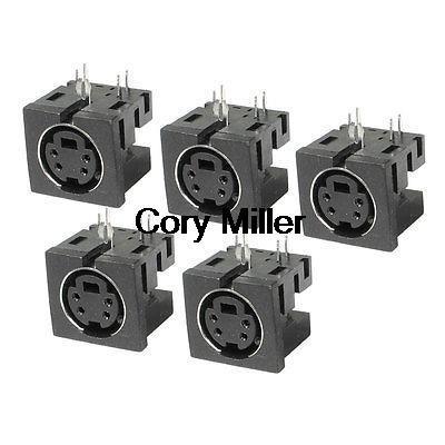 PCB Mount 4 Pin Female S Jack DVD Mini Din Sockets Connectors