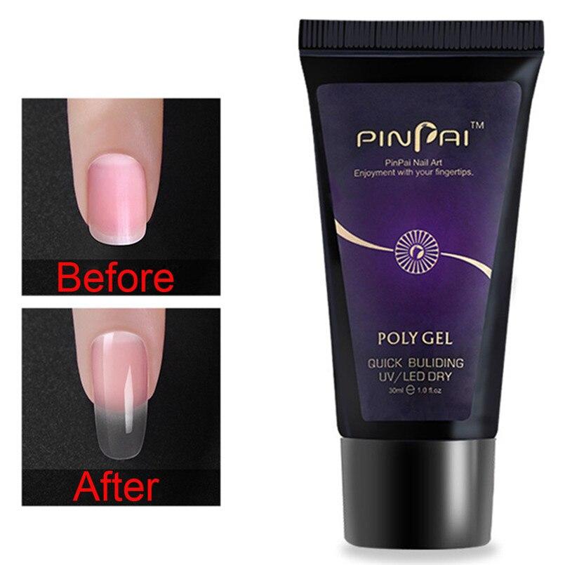 30ml 9 cores gel polonês dicas extensão permanente uv unha polonês construtor poli gel falta cola para falso prego manicure ferramenta