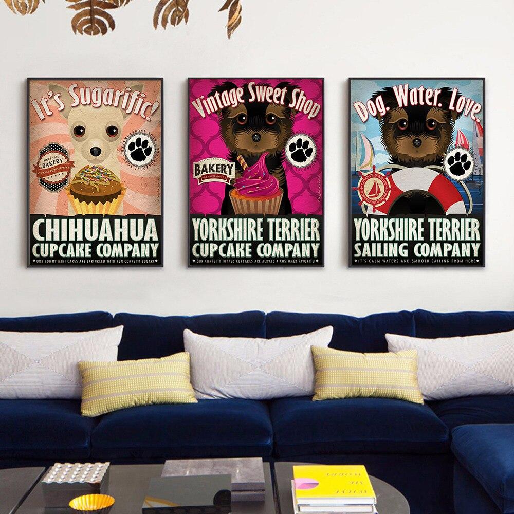 Cartel de Cocina con perro, animales, love water and go, póster de...