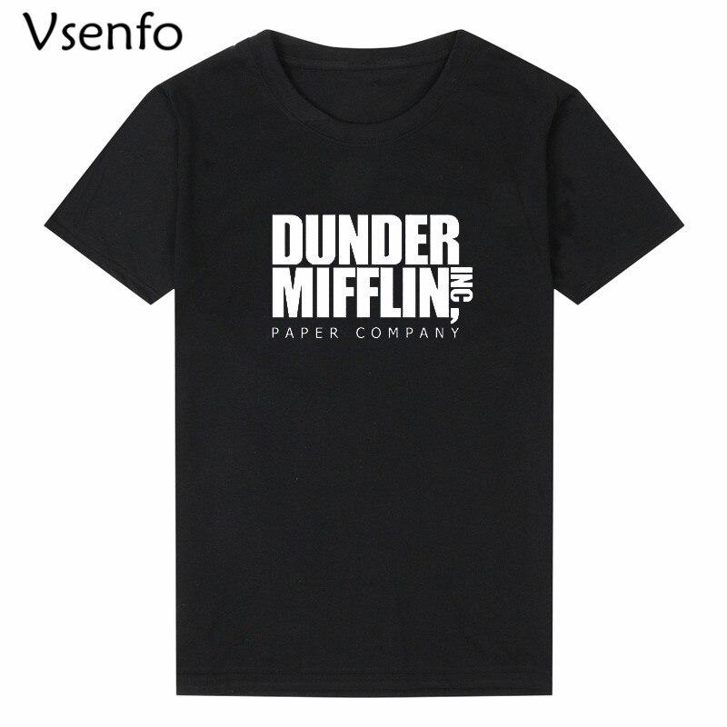 Vsenfo Die Büro T Hemd Männer Frauen Dunder Mifflin Inc Papier Unternehmen Wernham Hogg TV Zeigen Michael Scott Raum T hemd