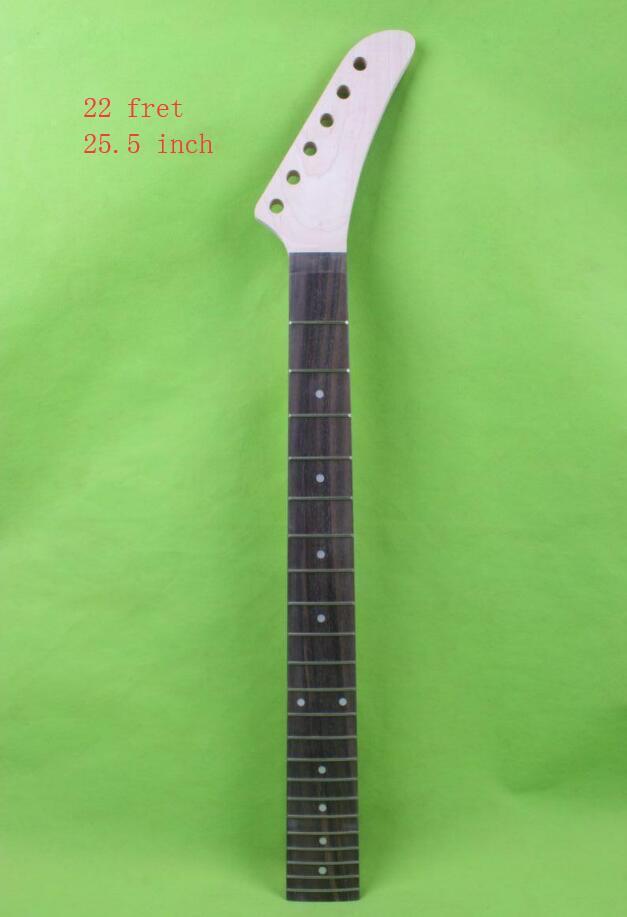 Banana guitarra eléctrica cuello 25,5 pulgadas 22 fret Arce rosewood bloqueo tuerca