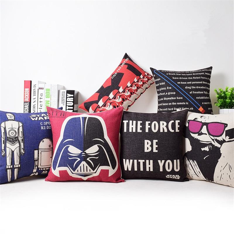 ¡Oferta! Funda de cojín de dibujos animados Serie de Star Wars, funda de almohada decorativa Para el hogar, Cojines Decorativos Para funda de cojín de sofá
