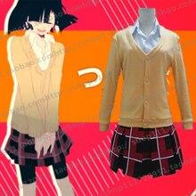 Kagerou Project Takane Enomoto Ene Cosplay Costume JK School Uniform Sweater+Skirt+Shirt
