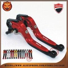 Pochette de frein réglable et extensible   Pour DUCATI M400 M600 M620 M750 M750IE M900 moto Logo rouge doré