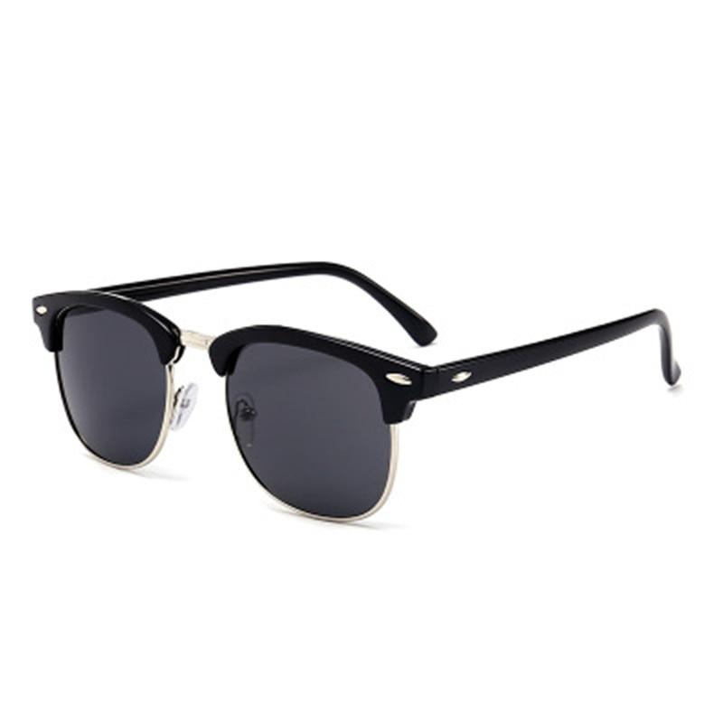 Men Sunglasses UV400 Mirror Lady Sun Glasses Brand Designer Classic Male Female Hot Half Frame Women L Rayed Small Size Goggle