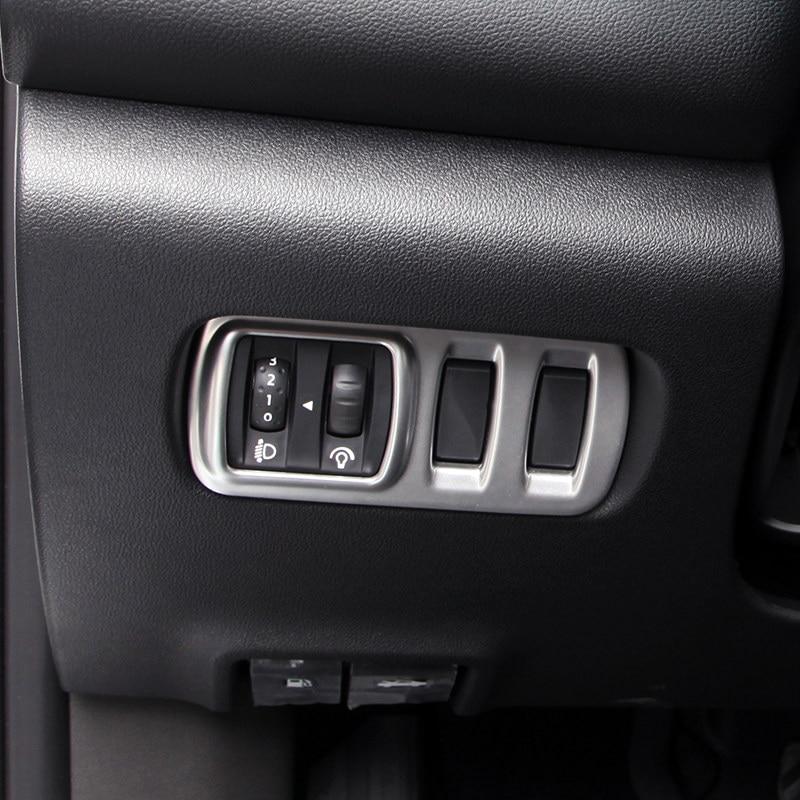 Accesorios de Auto interior de la cabeza de la lámpara de la luz botón interruptor decoración recorte cubierta 1 piezas mate ABS para Renault Kadjar 2015- 2017