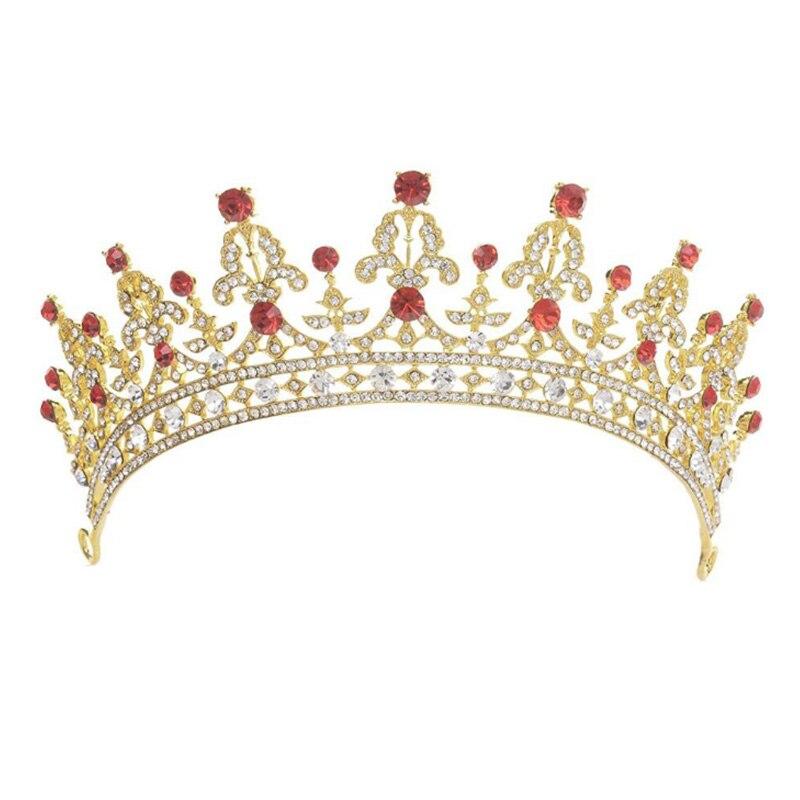 Corona de novia con diamantes de imitación de cristal GETNOIVAS, diadema de novia, accesorios para el cabello de boda SL