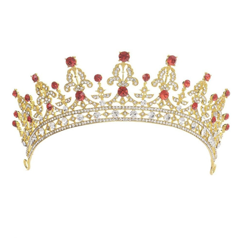 GETNOIVAS Crystal Rhinestone Bride Crown Tiara de Noiva Diadem Headpiece Bridal Head Jewelry Women Wedding Hair Accessories SL