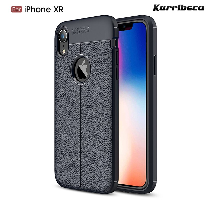 "Xr Litchi capa de silicone para o iphone 6.1 ""casos carcasas funda hoesje skal lichia tpu tampa coque estojo kryt tok kilifi husa"