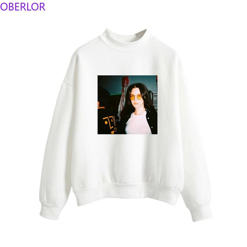 Fashion Harajuku Lana Del Rey Cool Print Hoodies Women Aesthetic Vintage Sweatshirt Female O-Neck Casual Pullovers for Fans