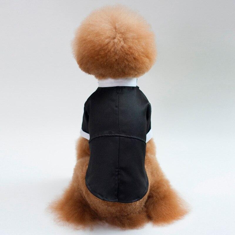 Elegante traje de Mascota, lazo para mascota, ropa Formal, chaqueta de caballero con cola de Golondrina, traje de negocios para hombre, traje de boda para perro mascota, parte de vestidos