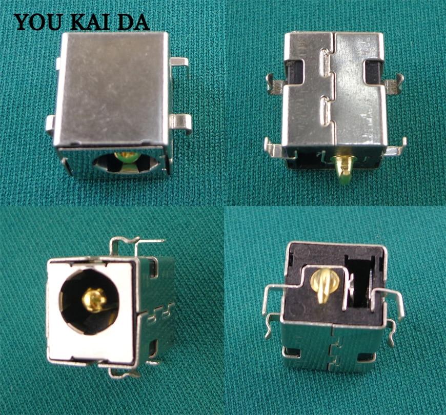 100 pces 2.5mm dc power jack pino dourado para asus k52jr a52 a53 k52 k53 u52 x52 x53 x54 pj033 a43 x43 a53 a53s u30 portátil
